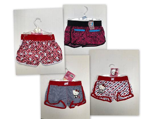 girls Hello Kitty cat beach summer holiday elasticated shorts cute