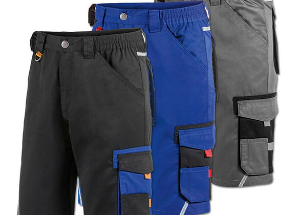 Work wear Shorts, Half Elastic Waist, Triple Stitched Cordura Reinforcing Stress
