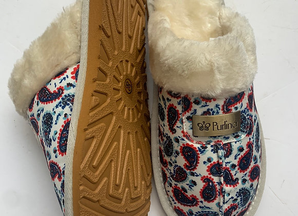 New Ladies Slippers Womens Fur Lined Indoors Cosy Warm Slip On Mules Size £2.50