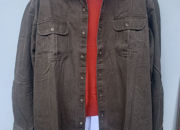 Big&Tall Mens RedHead BROWN Meadowlands Woven Twill Shirt - Size Medium to 2XL B