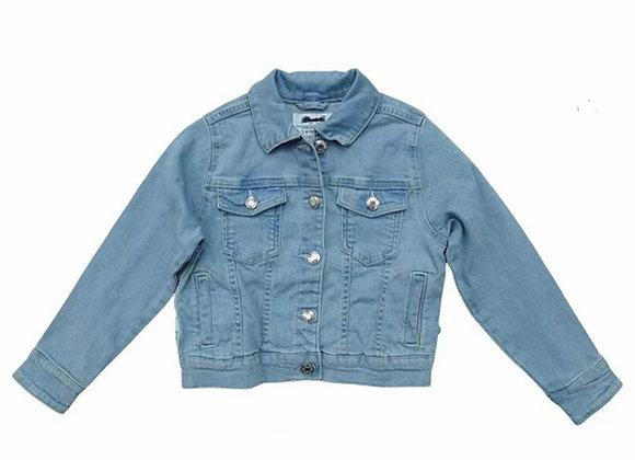 Kids Girls Denim Jacket with Press Stud Buttons Jacket OutwearEx store £3