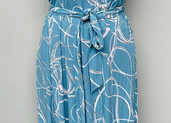 Black blue floral dress
