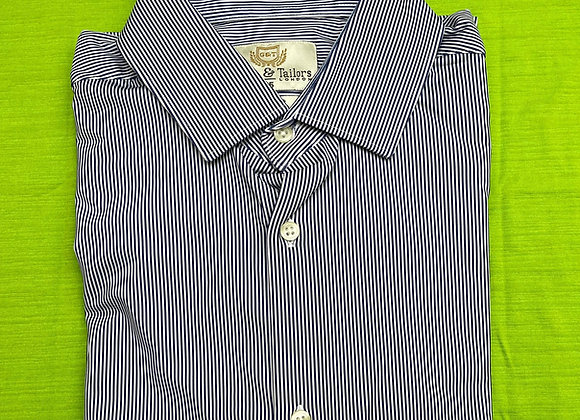 Blue and White Strip Men Long Sleeve Shirt £3.75