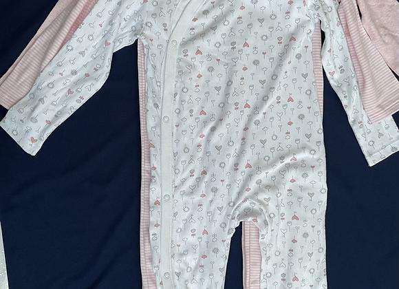 EX Uk store  3 pack  babygrows sleepsuits.£5.00