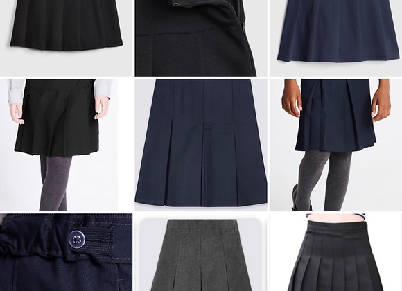 Girls school Skirts 3 mix colours 2/14 years £1