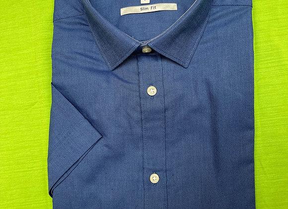 Oxford Blue Men Short Sleeve Shirt £3.75