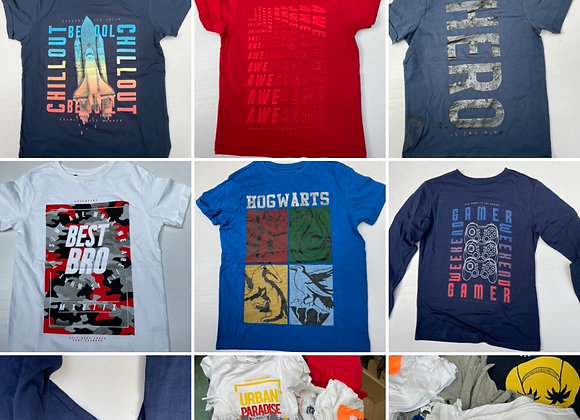 Kids Boys cotton T shirts 3/14 years ex store £1.10