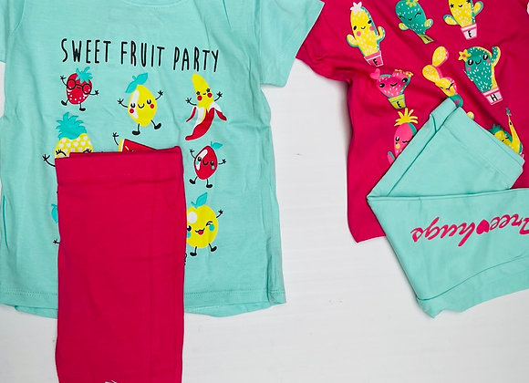 Kid girls pj   4 colours 2/8 years £2.50