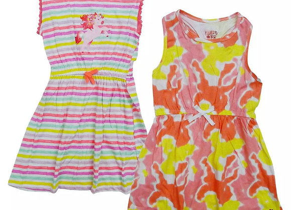 Girls  Summer Skater Dresses Butterfly Love Nautical 4 to 12 Years. £2.50