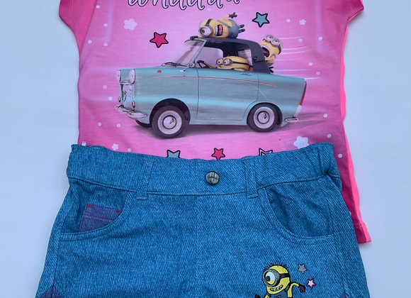 GIRLS LICENSE DESPICABLE ME 2 PIECE SETS 6/12 years  £3.00