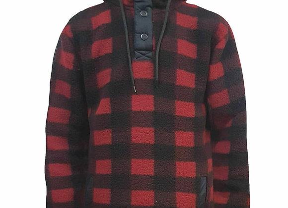 Mens Fluffy Teddy Lumberjack Fleece Lined Hoodie Pullover Jacket Hooded Jumper