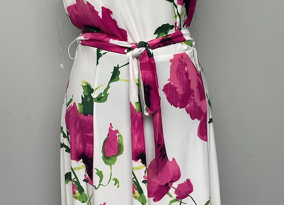 Red floral print £5