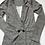 Thumbnail: Girls Checked stretch  jacket. Kids Grey Children uk made ex store£2.00