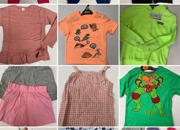 Kids X store  parcel 200 pcs 4/10 years @£1.00