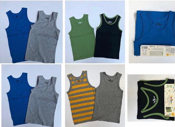 Boys organic Boxer and vest 1/2 2/3  3/4 @50p