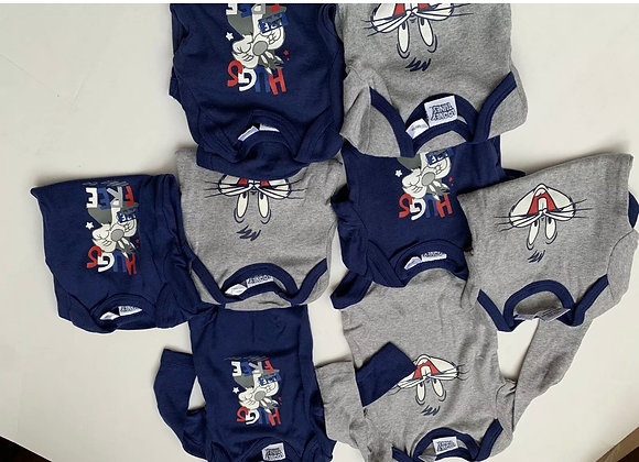 BABY 6 PCS Loose Pack LONG SLEEVE VESTS BODYSUITS ROMPER BoyS