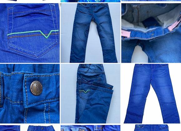 Boys Denim Blue Jeans Slim Leg 5 Pocket Adjustable Waist Age 1.5Y To 7Y Ex-Store