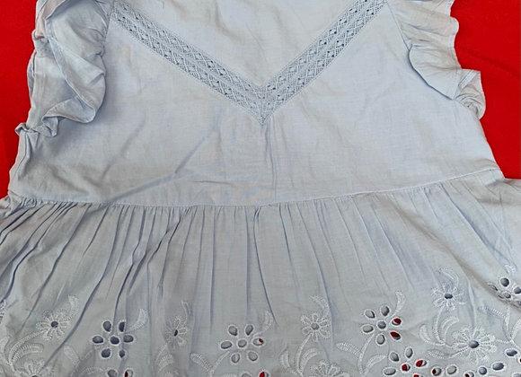 Girls ex store top 100% cotton blue /white £1.75