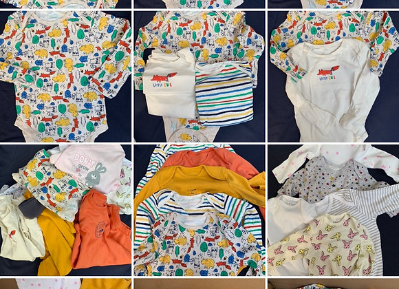 Baby boys/ girls Box of 100 pcs Mix long sleeve vest baby 100% cotton £100