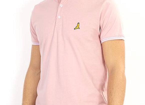 BRAVE SOUL MEN'S TEE, POLO SHIRT STYLE, SHORT SLEEVES, BUTTON DOWN COLLAR, CHEST