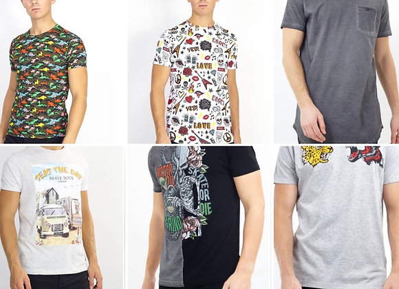 Men Cotton T-Shirt Casual Graphic Photo Print Tees Casual Summer Tops £3.00