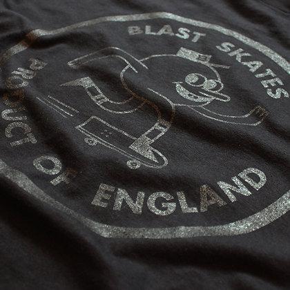 Blast 'Round Logo' Tee - Black