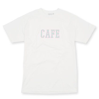 Cafe - 'College' Tee White