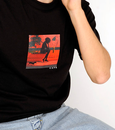 Cafe - 'Liberated' Tee Black