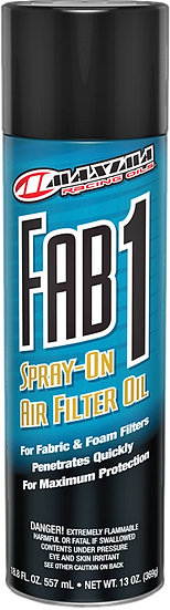 MAXIMA FAB 1 SPRAY-ON AIR FILTER OIL 13OZ