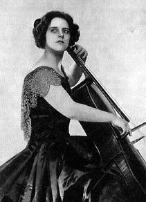 Beatrice Harrison playing the cello