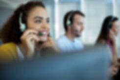 Customer service executive working at of