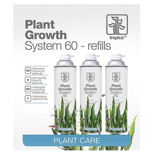 """Plant Growth System 60 """"Tropica"""" - refill (3 garrafas)"""