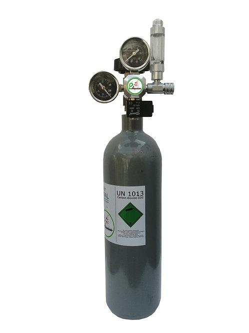 Redutor CO2 com valv.solenoide  + Botija CO2 2L