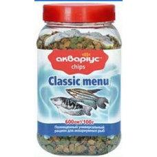 "Classic menu ""Akvarius"" (chips) 100g"