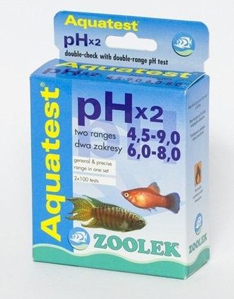 "Teste pHx2 4.5-9.0 e 6.0-8.0 ""Zoolek"""
