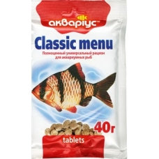 "Classic menu ""Akvarius"" (tablets) 40g"