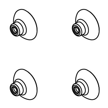 4x Ventosas p/Sicce Scuba