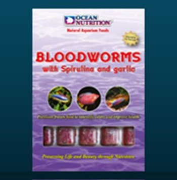 "Bloodworms c/Spirulina e Alho 100g ""Ocean Nutrition"""