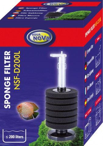 """NSF-D200L  Sponge Filter """"AQUA NOVA"""""""