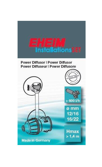 """Difusor externo """"EHEIM"""" p/ mangueira 12/16 e 16/22"""