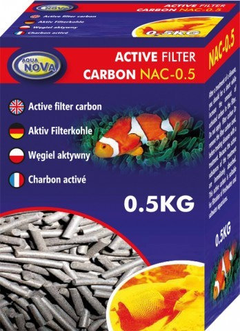 """Carvão ativo 0,5kg """"AQUA NOVA"""""""