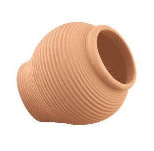 Jarra de cerâmica beje 11cm