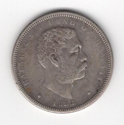 Hawaii 1883 Half Dollar