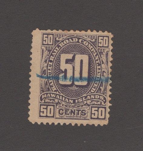 17-21L M-H #155  50¢ KAHULUI RR   *