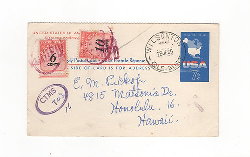 C331* Honolulu Reply Card-UY19r