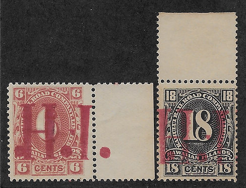 17-20h M-H #152, 154 Rare Red Ovpt.s