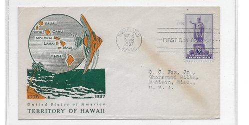 15-137 FDC - Kamehameha  #799