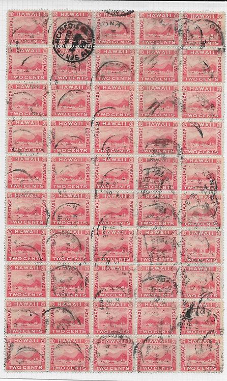 16-34 HI #81 Used Flying Duck Sheet