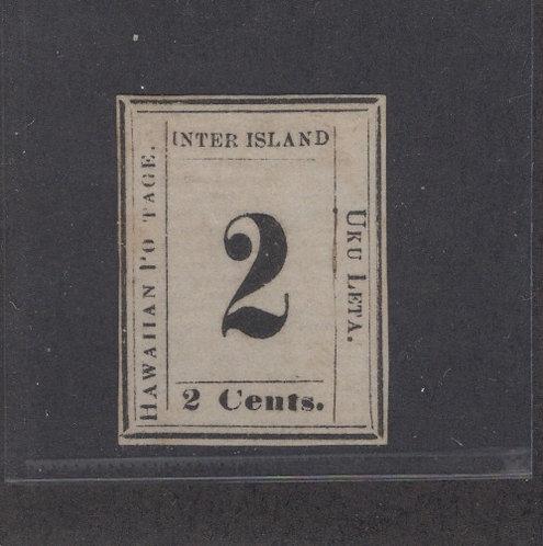 "8-9b Hawaii #24b ""S"" Omitted"