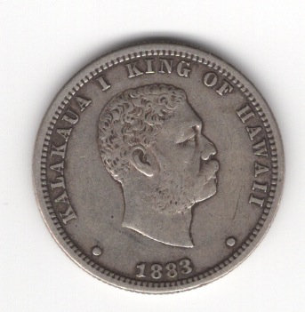 Hawaii 1883 Quarter
